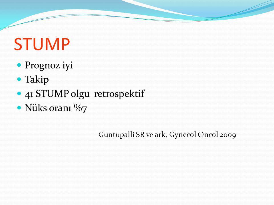 STUMP Prognoz iyi Takip 41 STUMP olgu retrospektif Nüks oranı %7