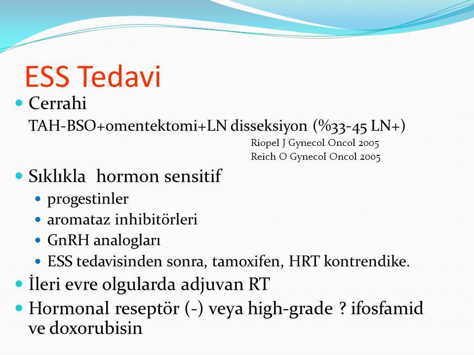 ESS Tedavi Cerrahi Sıklıkla hormon sensitif