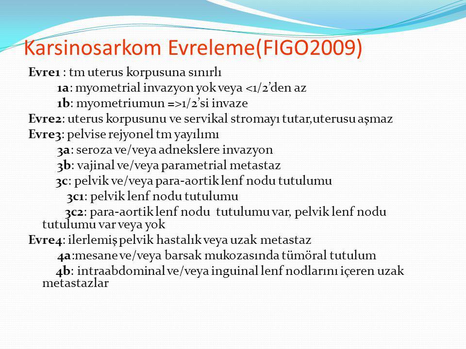 Karsinosarkom Evreleme(FIGO2009)
