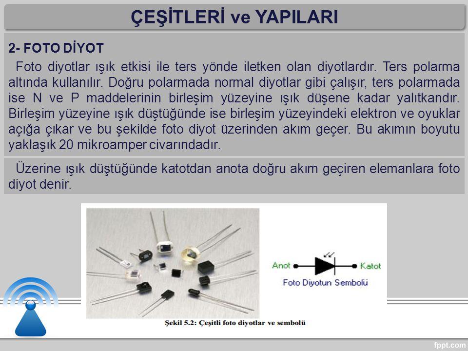ÇEŞİTLERİ ve YAPILARI 2- FOTO DİYOT