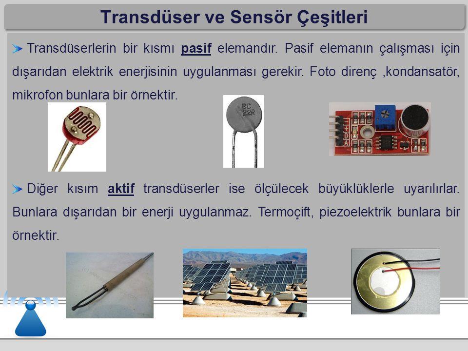 Transdüser ve Sensör Çeşitleri