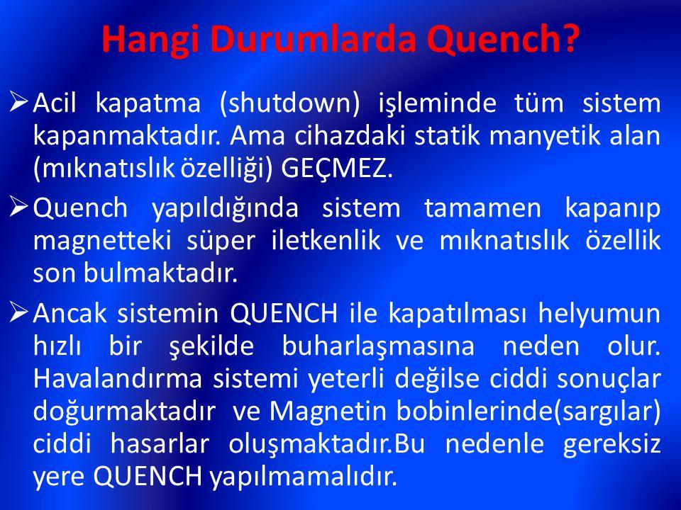 Hangi Durumlarda Quench