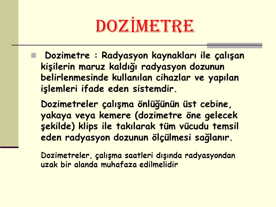 DOZİMETRE
