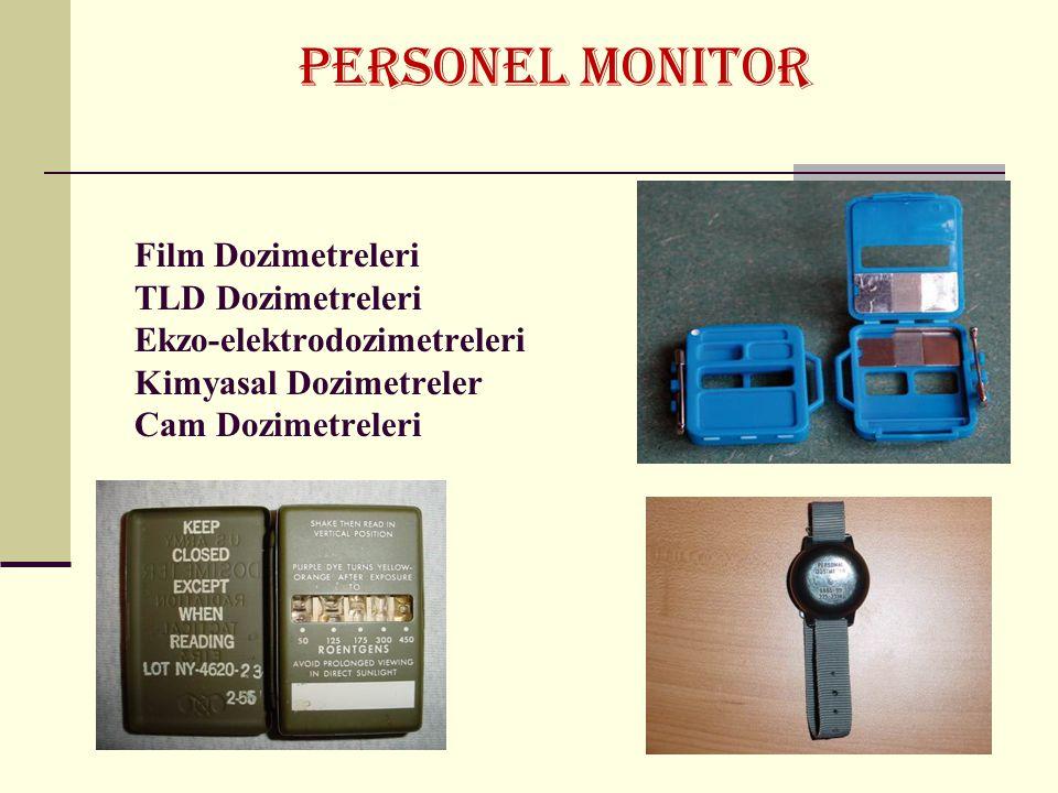 PERSONEL MONITOR Film Dozimetreleri TLD Dozimetreleri