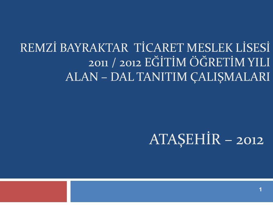 REMZİ BAYRAKTAR TİCARET MESLEK LİSESİ 2011 / 2012 EĞİTİM ÖĞRETİM YILI ALAN – DAL TANITIM ÇALIŞMALARI
