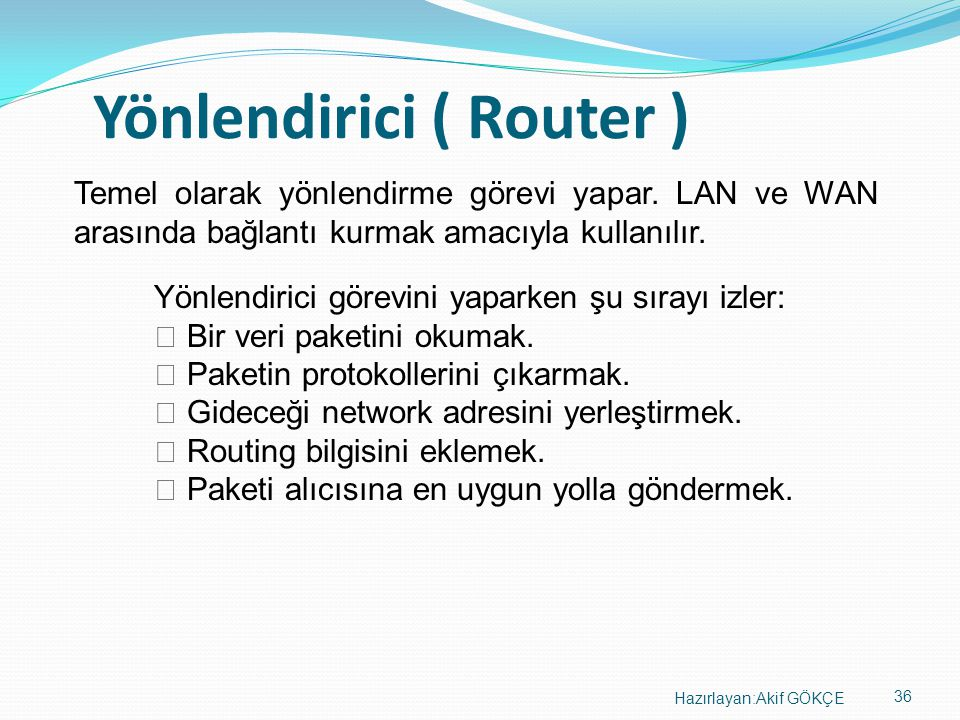 Yönlendirici ( Router )