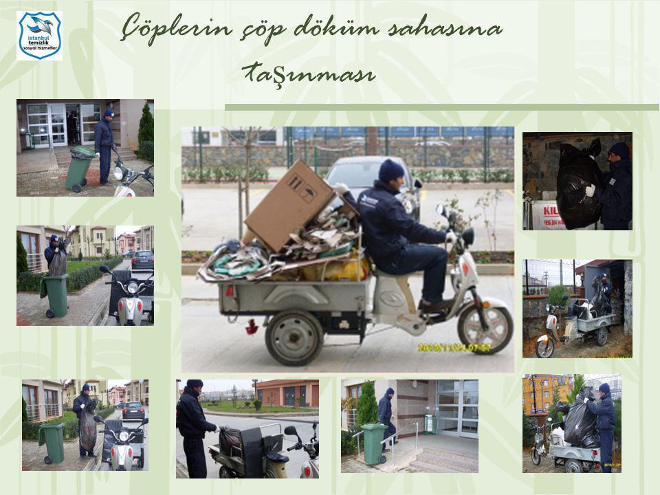 Çöplerin çöp döküm sahasına taşınması