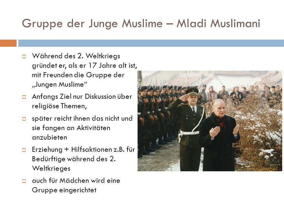 Gruppe der Junge Muslime – Mladi Muslimani
