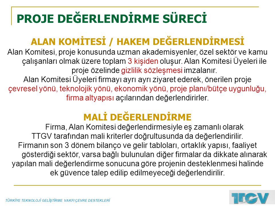 ALAN KOMİTESİ / HAKEM DEĞERLENDİRMESİ