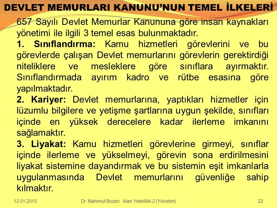 DEVLET MEMURLARI KANUNU'NUN TEMEL İLKELERİ