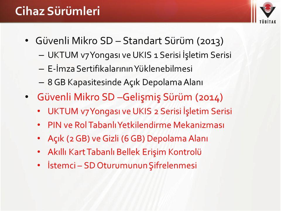 Cihaz Sürümleri Güvenli Mikro SD – Standart Sürüm (2013)