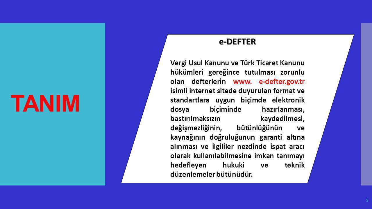TANIM e-DEFTER.