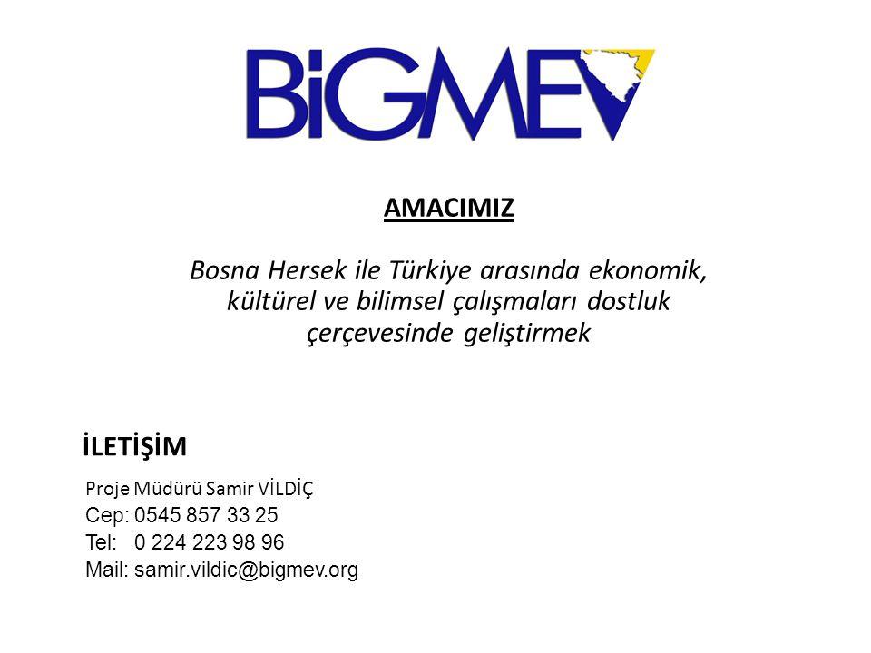 AMACIMIZ Bosna Hersek ile Türkiye arasında ekonomik, kültürel ve bilimsel çalışmaları dostluk çerçevesinde geliştirmek.