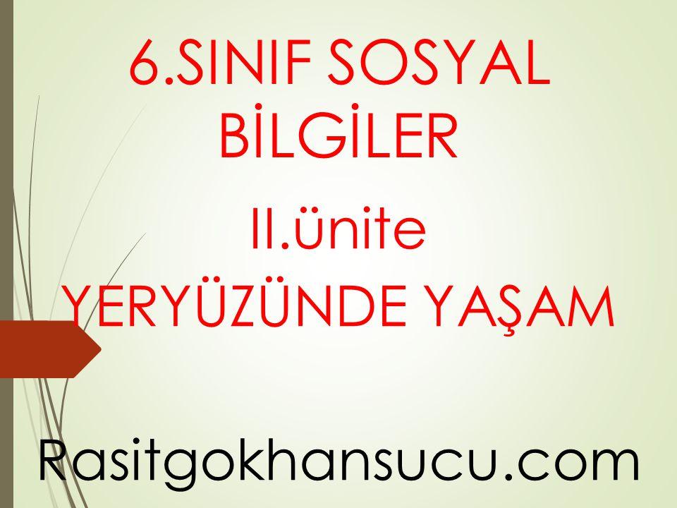 II.ünite YERYÜZÜNDE YAŞAM Rasitgokhansucu.com