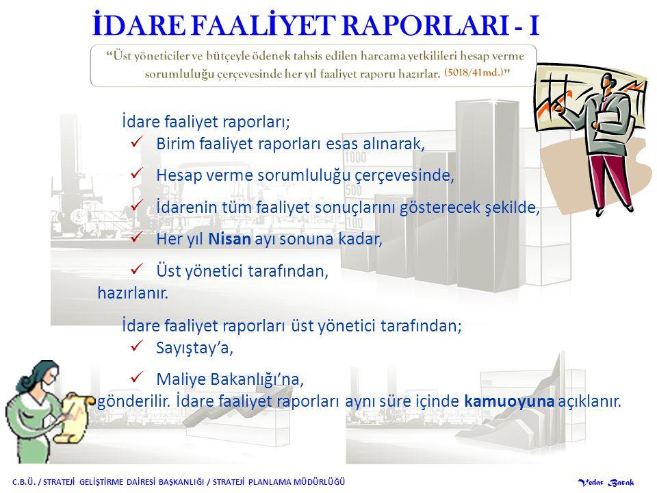 İDARE FAALİYET RAPORLARI - I