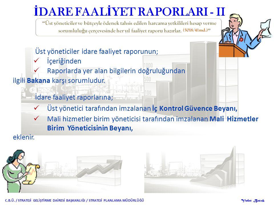 İDARE FAALİYET RAPORLARI - II