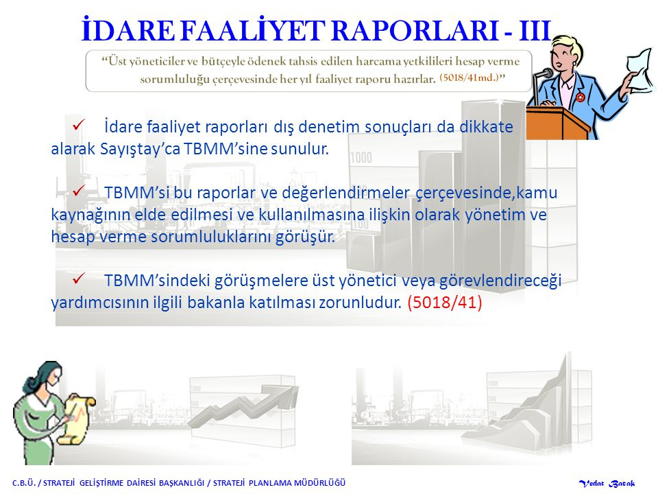 İDARE FAALİYET RAPORLARI - III