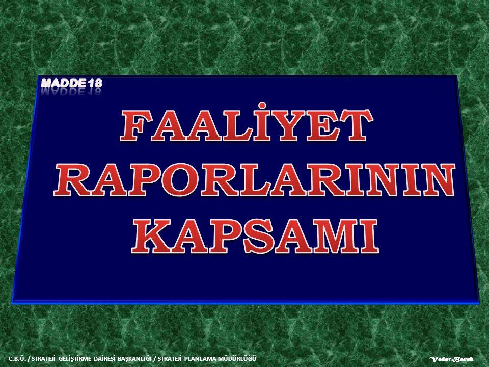 FAALİYET RAPORLARININ KAPSAMI