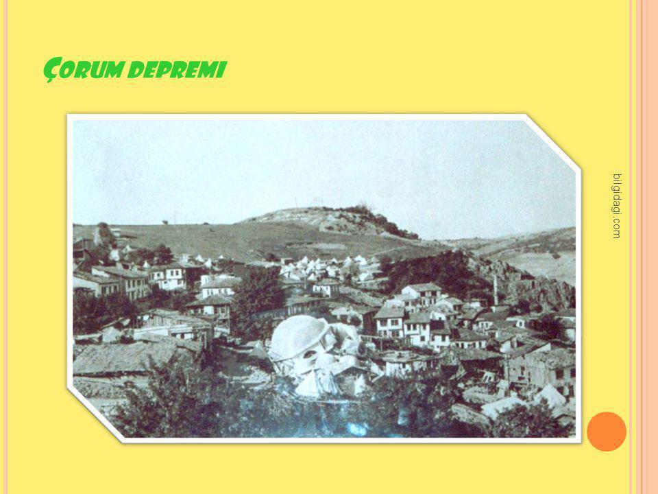Çorum depremi bilgidagi.com