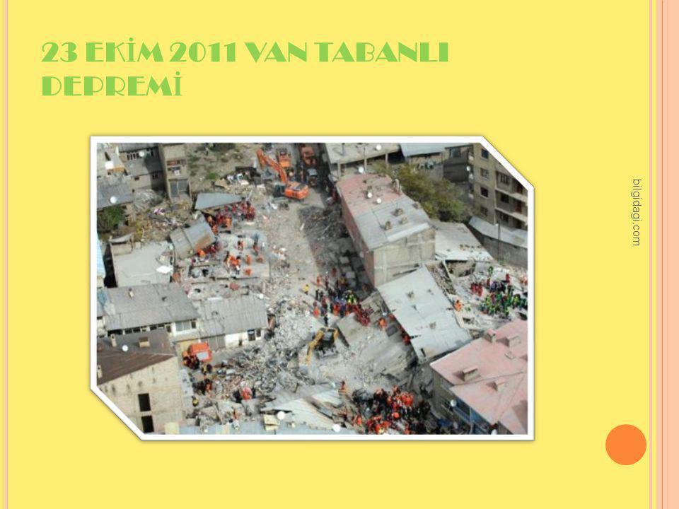 23 EKİM 2011 VAN TABANLI DEPREMİ