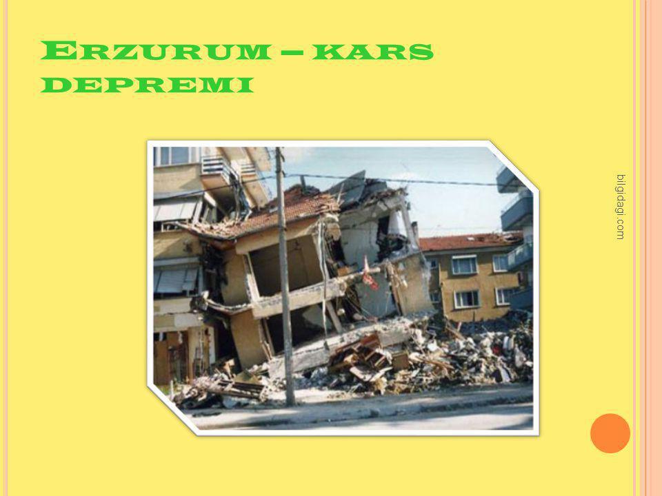 Erzurum – kars depremi bilgidagi.com