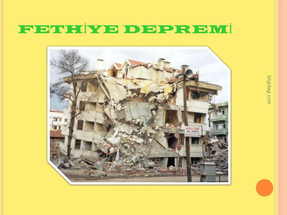 FETHİYE DEPREMİ bilgidagi.com