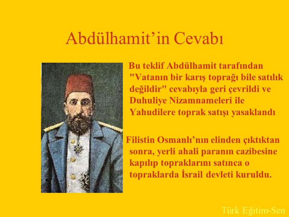 Abdülhamit'in Cevabı