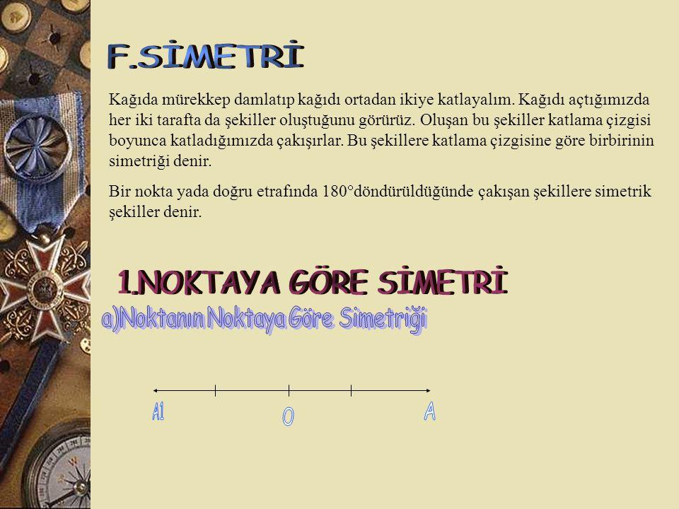 a)Noktanın Noktaya Göre Simetriği