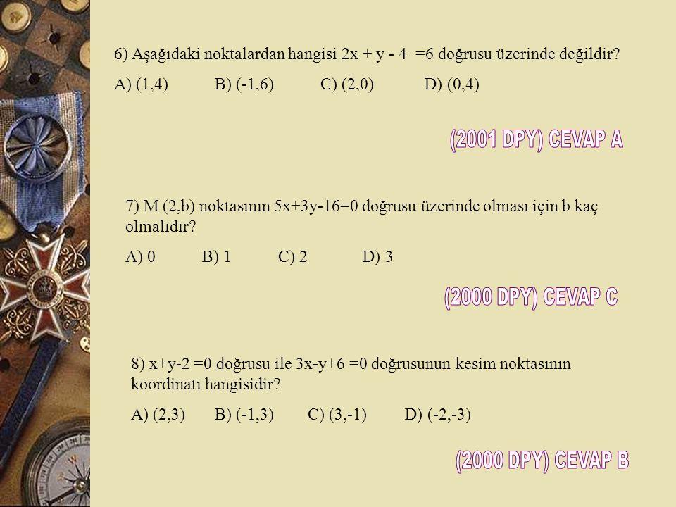 (2001 DPY) CEVAP A (2000 DPY) CEVAP C (2000 DPY) CEVAP B