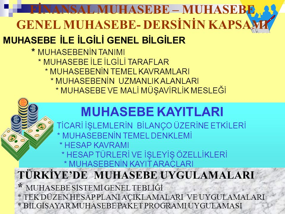 FİNANSAL MUHASEBE – MUHASEBE GENEL MUHASEBE- DERSİNİN KAPSAMI