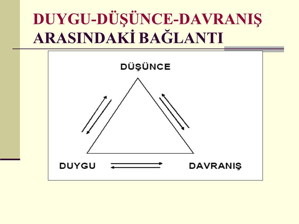 DUYGU-DÜŞÜNCE-DAVRANIŞ ARASINDAKİ BAĞLANTI