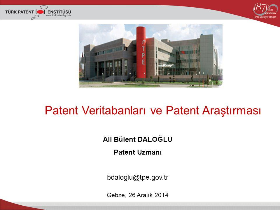 Patent Veritabanları ve Patent Araştırması