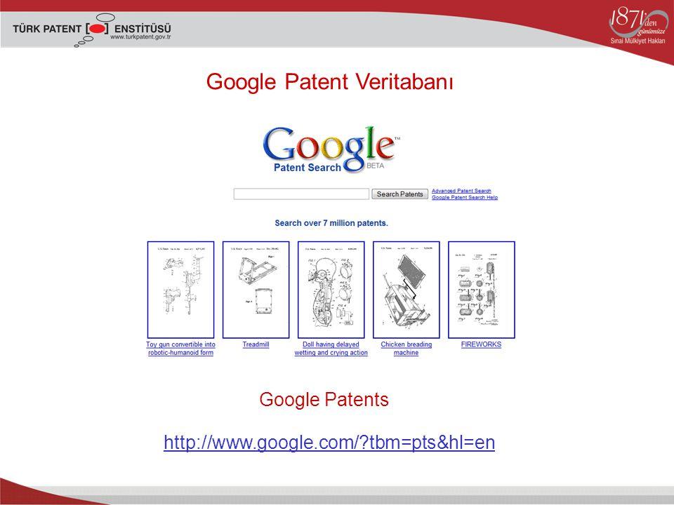 Google Patent Veritabanı