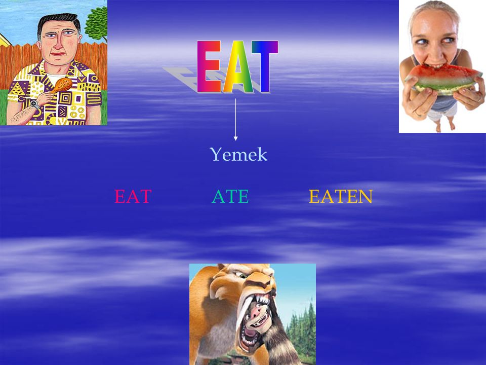EAT Yemek EAT ATE EATEN