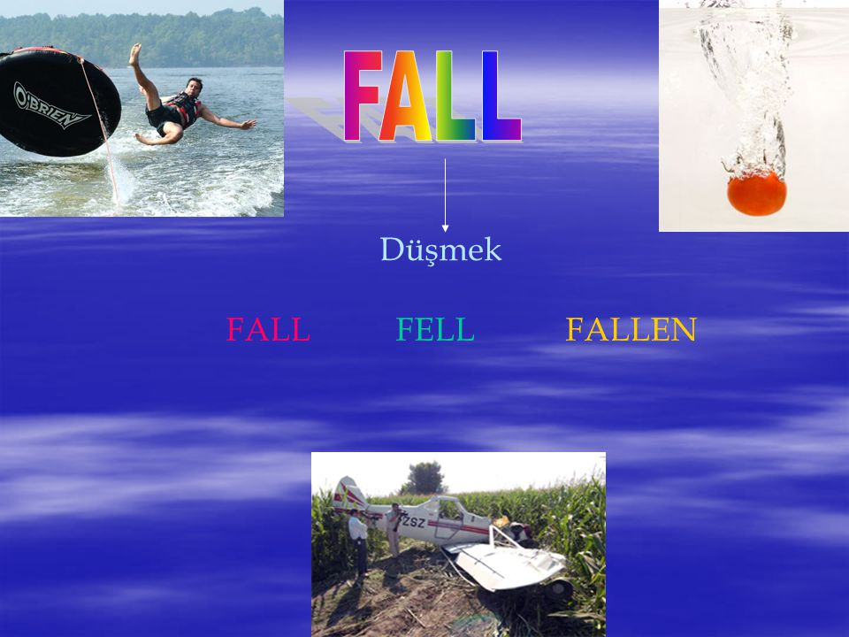 FALL Düşmek FALL FELL FALLEN