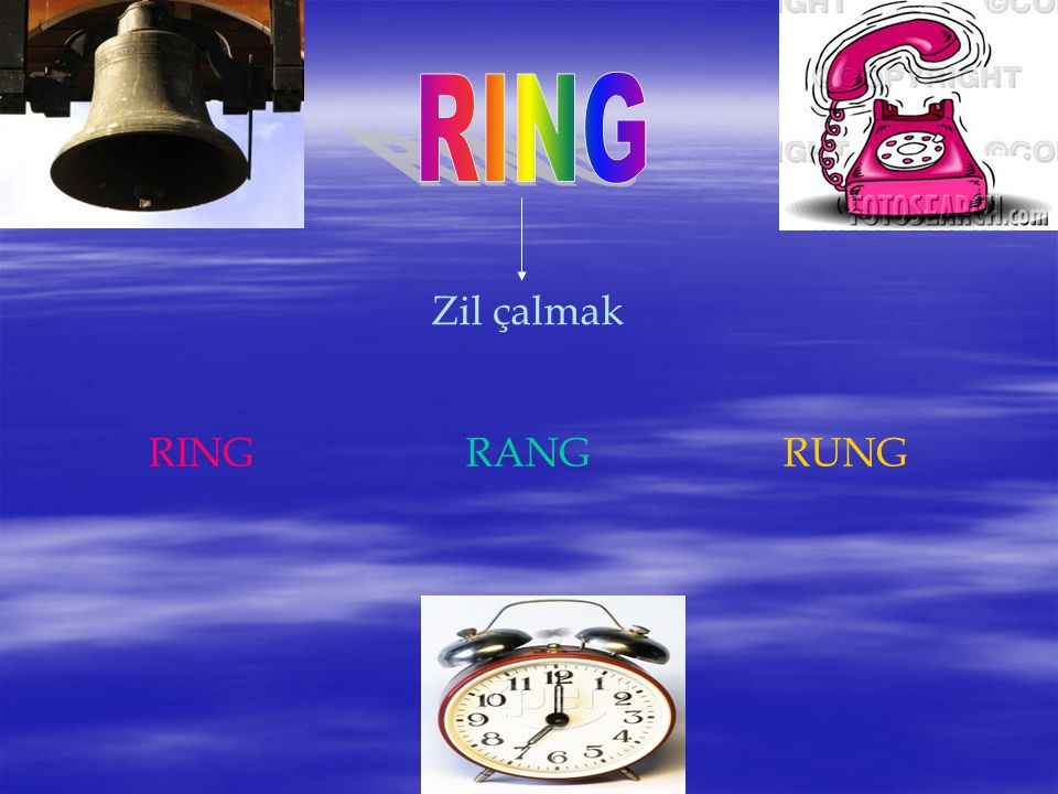 RING Zil çalmak RING RANG RUNG