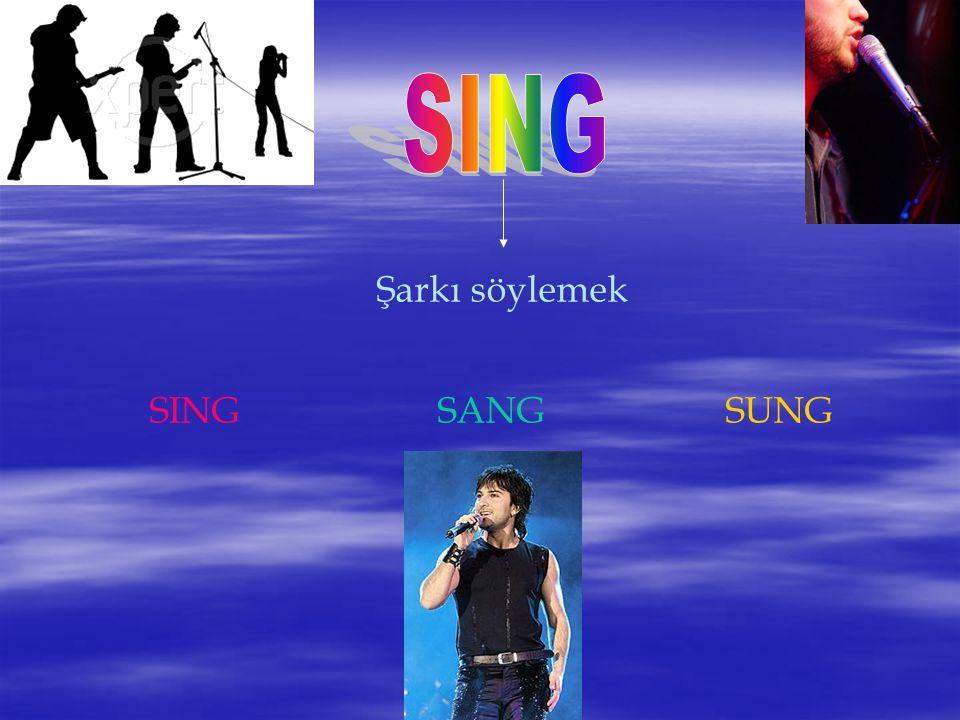 SING Şarkı söylemek SING SANG SUNG