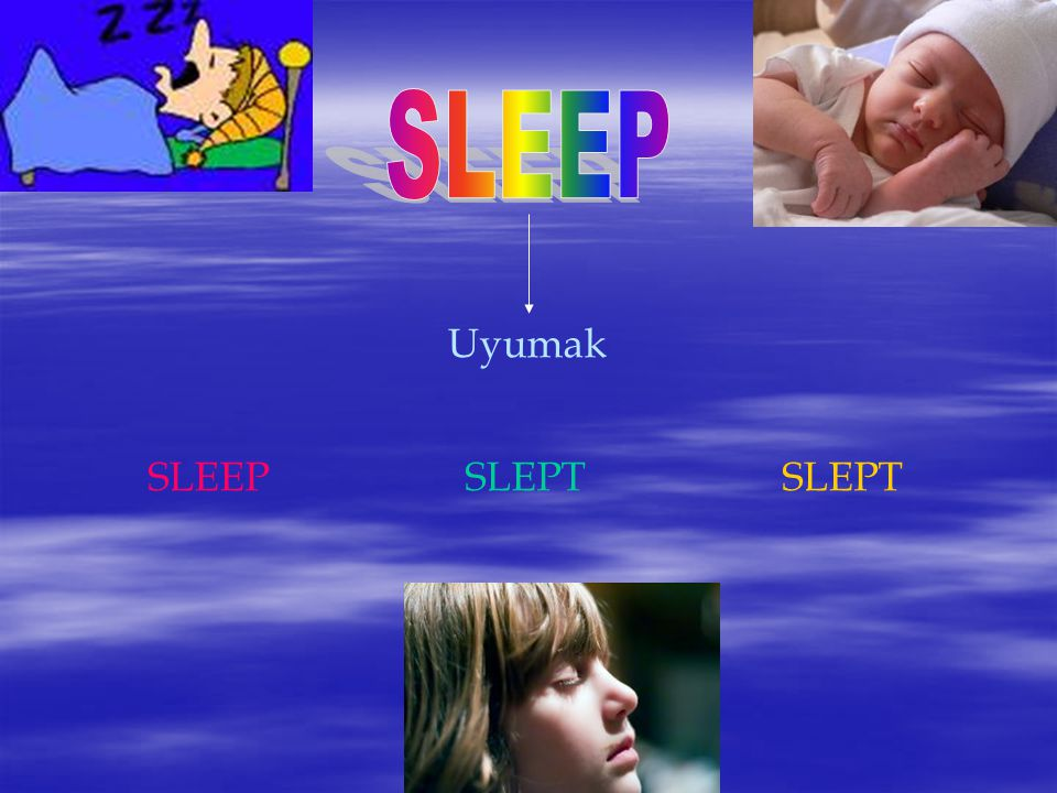 SLEEP Uyumak SLEEP SLEPT SLEPT