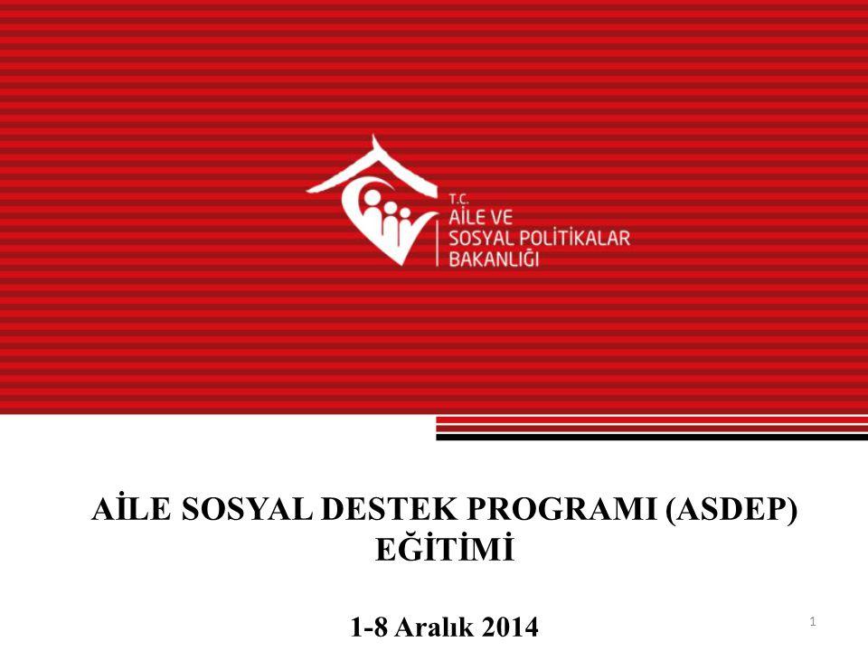 AİLE SOSYAL DESTEK PROGRAMI (ASDEP) EĞİTİMİ