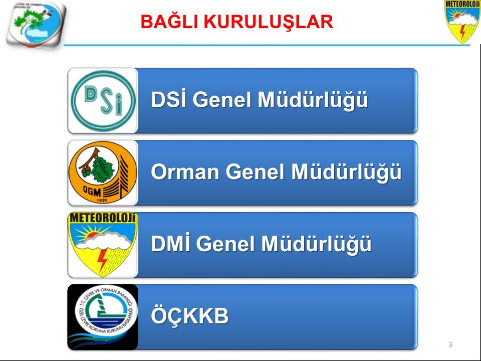 DSİ Genel Müdürlüğü Orman Genel Müdürlüğü DMİ Genel Müdürlüğü ÖÇKKB