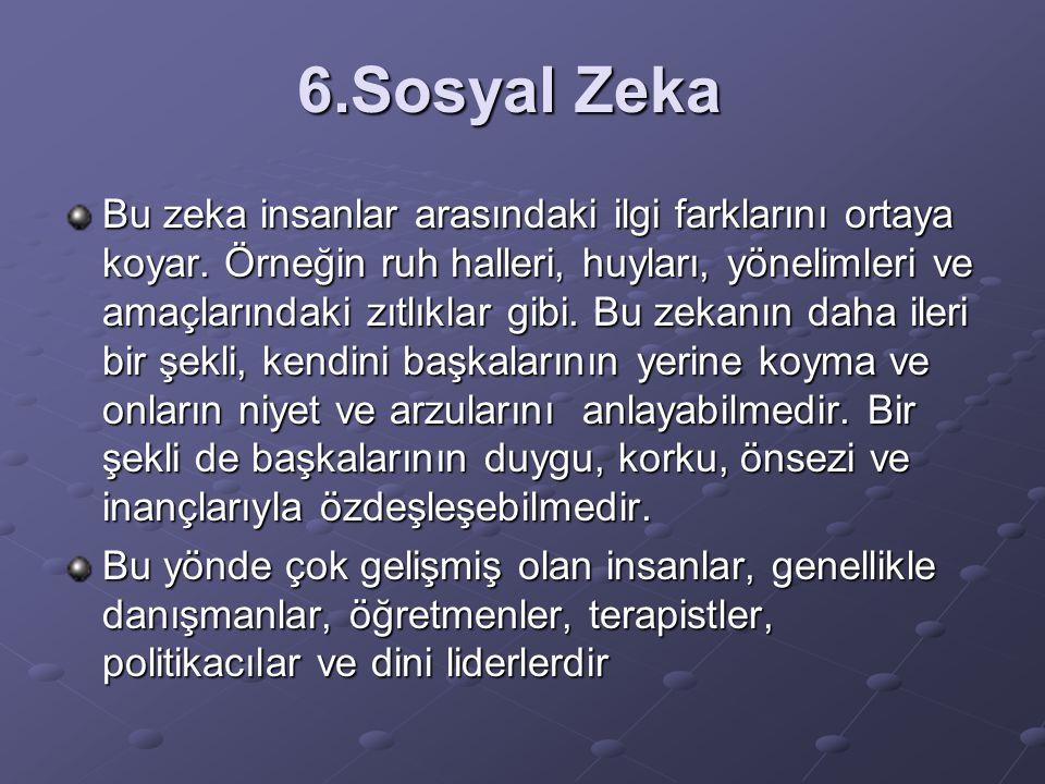 6.Sosyal Zeka