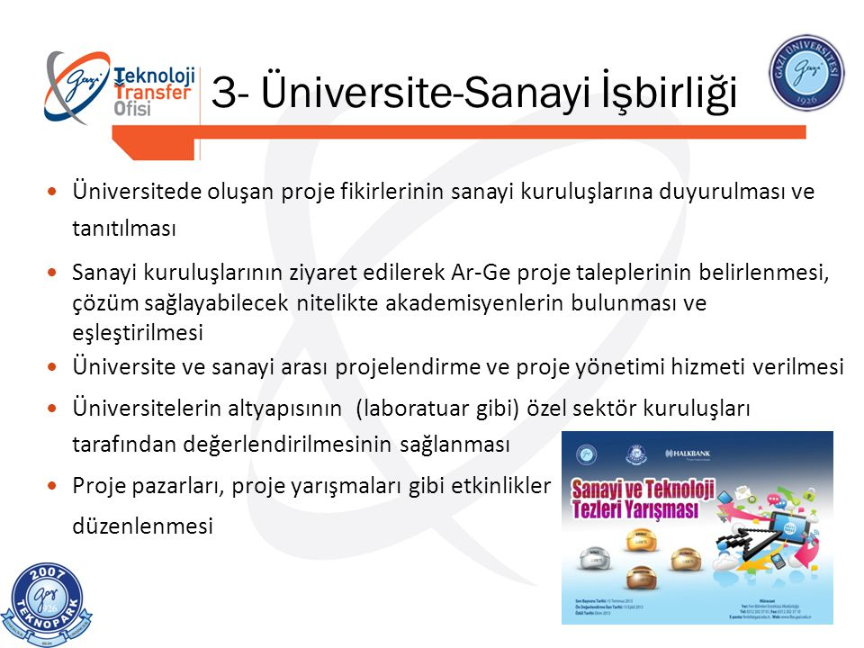 3- Üniversite-Sanayi İşbirliği