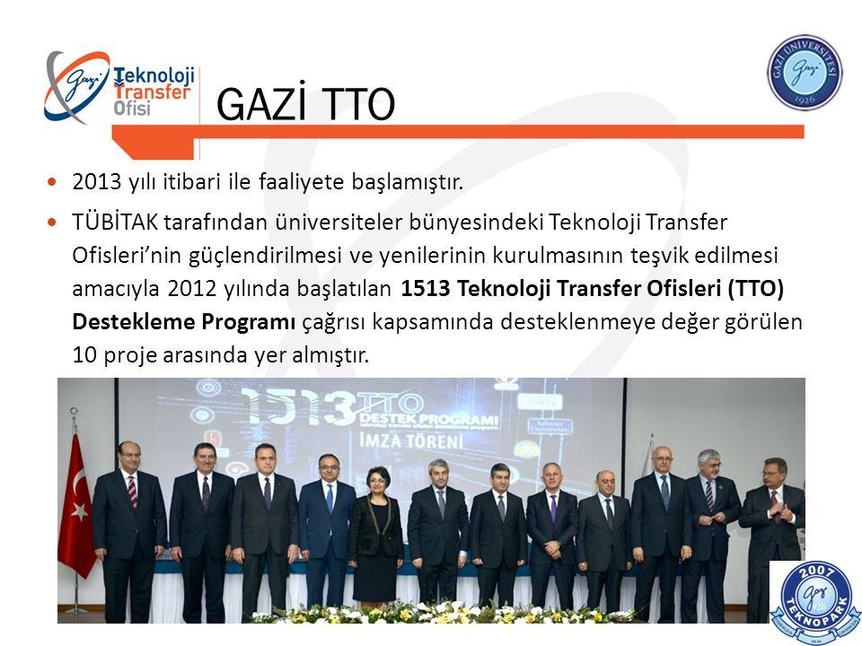 GAZİ TTO 2013 yılı itibari ile faaliyete başlamıştır.