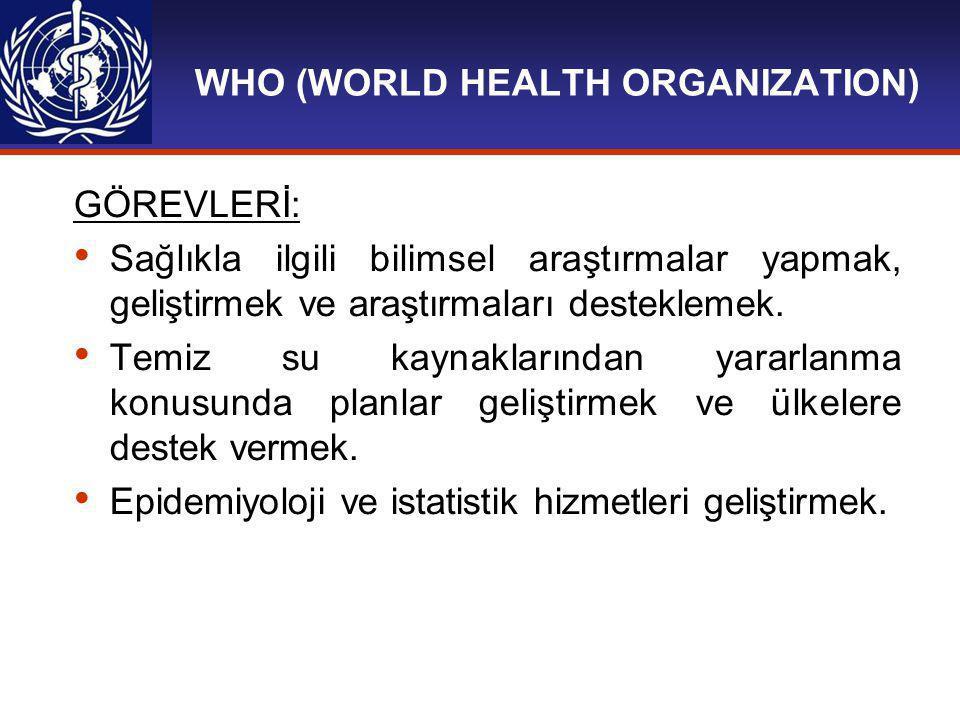 WHO (WORLD HEALTH ORGANIZATION)