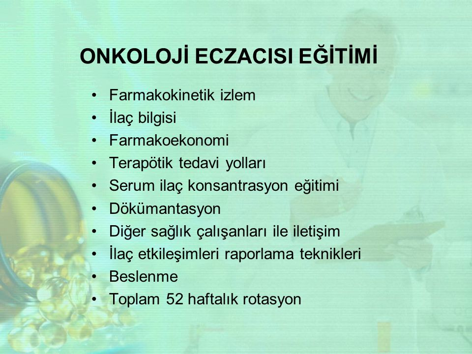 ONKOLOJİ ECZACISI EĞİTİMİ