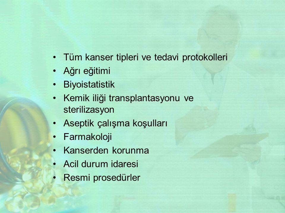Tüm kanser tipleri ve tedavi protokolleri