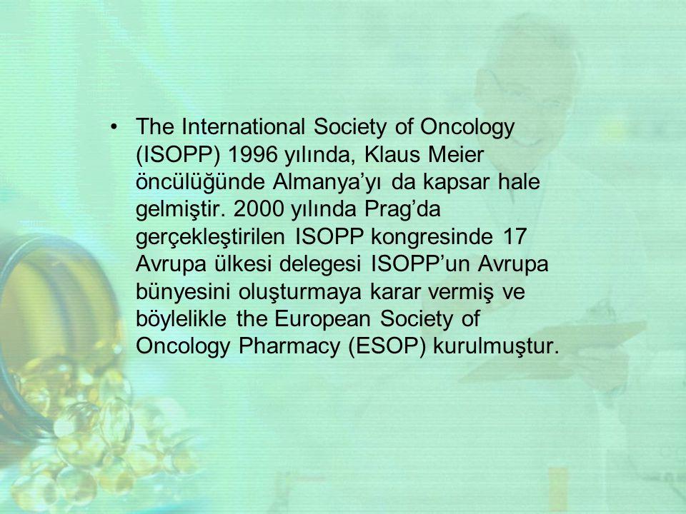 The International Society of Oncology (ISOPP) 1996 yılında, Klaus Meier öncülüğünde Almanya'yı da kapsar hale gelmiştir.
