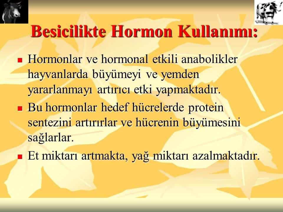 Besicilikte Hormon Kullanımı: