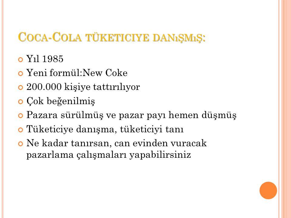 Coca-Cola tüketiciye danışmış: