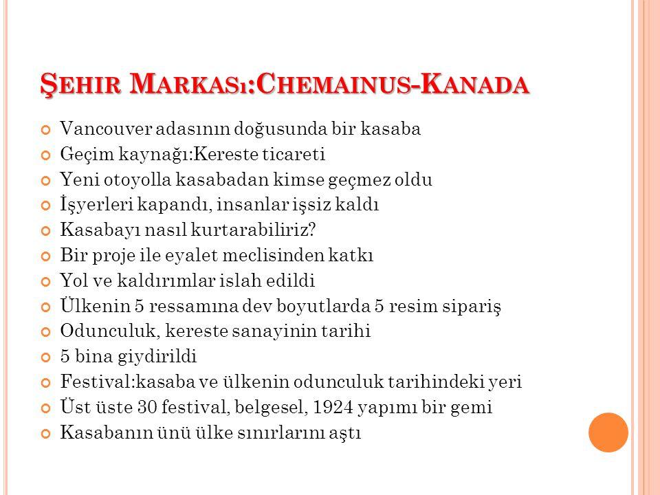 Şehir Markası:Chemainus-Kanada